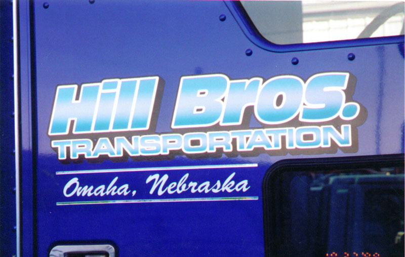 take a look at our truck lettering photo gallery